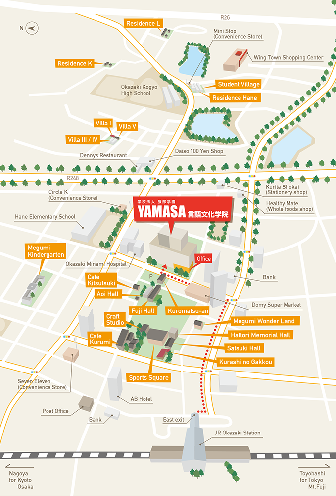 The Yamasa Institute campus map
