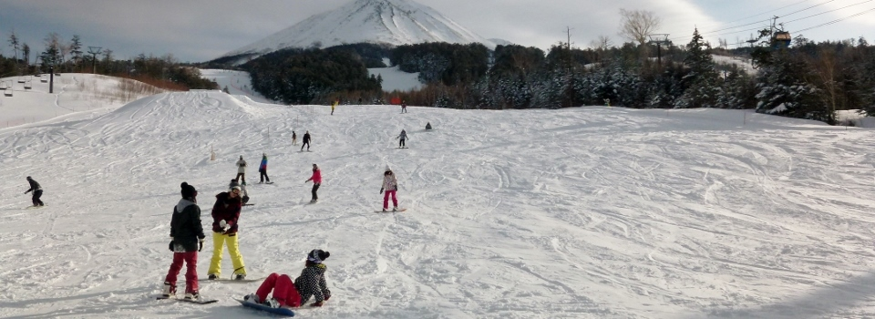 Having a ball on the slopes of Mt. Ontake during ski season!